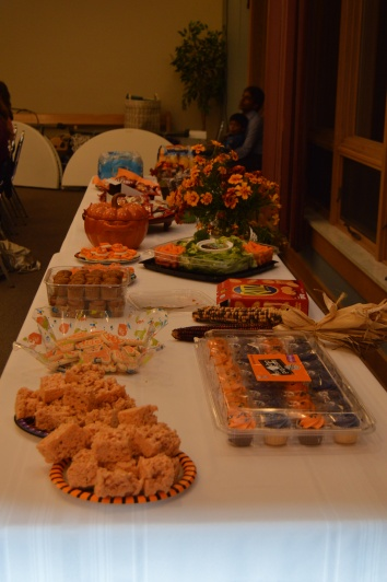 A wonderful Halloween spread courtesy of our wonderful families!