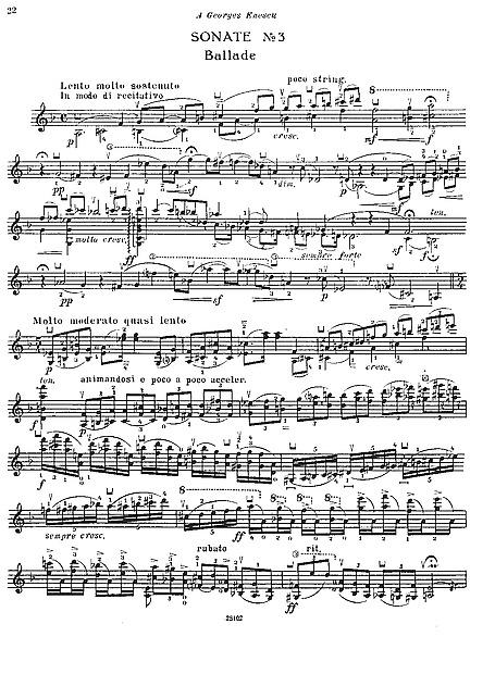 Ysaye Sonata 3 Ballade
