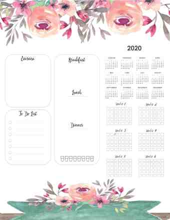 weight-loss-calendar-2020