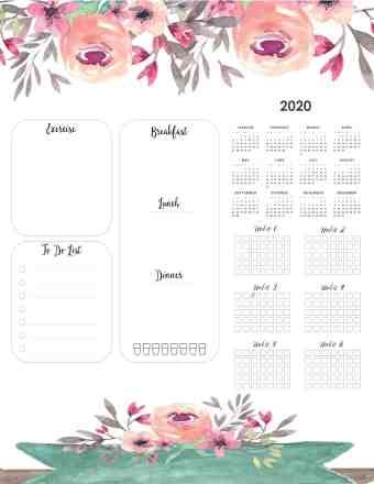 weight-loss-calendar-2020